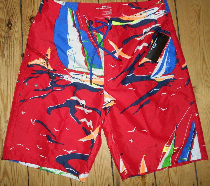 Mens Ralph Lauren Trunk Swim Shorts W34 Surf Shorts Authentic New