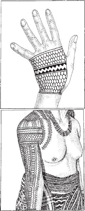 Batek: Traditional Tattoos and Identities In Contemporary Kalinga, pp. 105-142. | Analyn Salvador-Amores (ginak-gayaman = centipede)