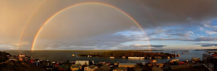 Rainbow of Yellowknife Bay