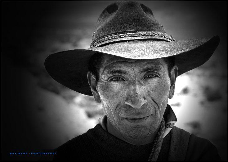 From Peru, Le regard percant du gaucho de l'Altiplano by MaxImage, Aminus3