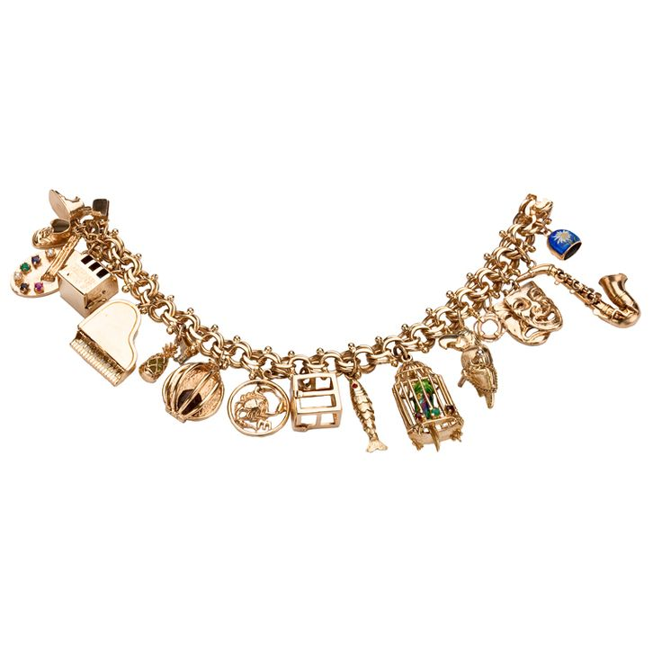 1stdibs - Gold Charm Bracelet explore items from 1,700  global dealers at 1stdibs.com