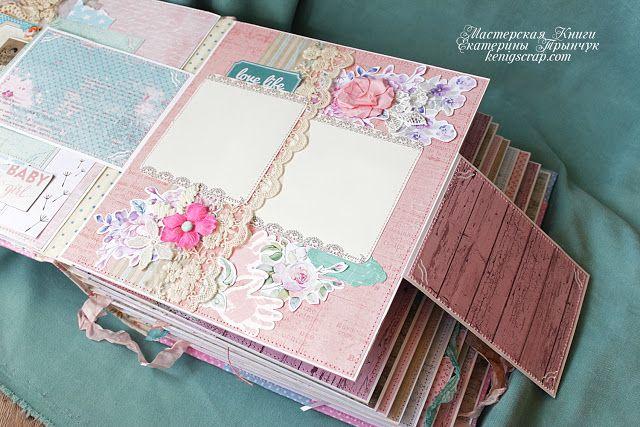 Фотоальбомы блокноты ручной работы: Альбом для малышки Карины