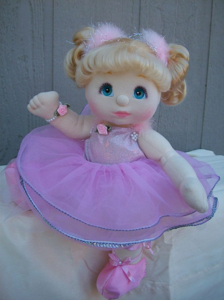 1985 OOAK My Child doll, Pretty Pink Plie, blond hair & aqua eyes