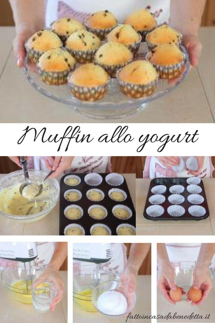 Ricetta Muffin yogurt e cioccolato, deliziosi dolcetti per la prima colazione.