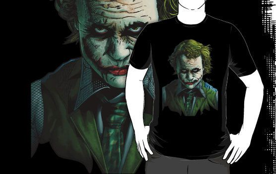 Heath Ledger Joker T-shirt Design