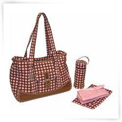 Kalencom Weekender Heavenly Dots Diaper Bag - Pink