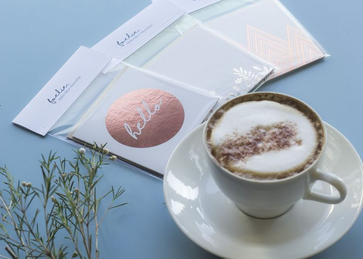 Foelie range. Copper foiled gift cards.