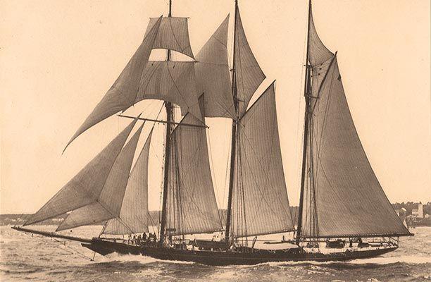 Shenandoah displaying her original rigging in 1902