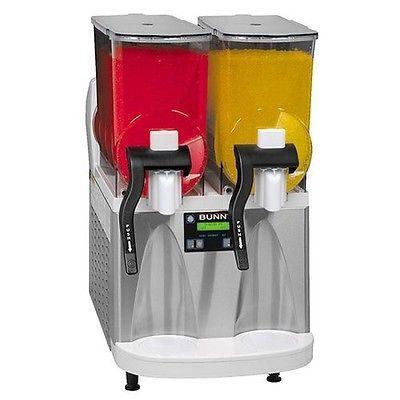 Bunn Ultra-2 HP Slushy / Granita Frozen Drink Machine with 2 Hoppers - White ...