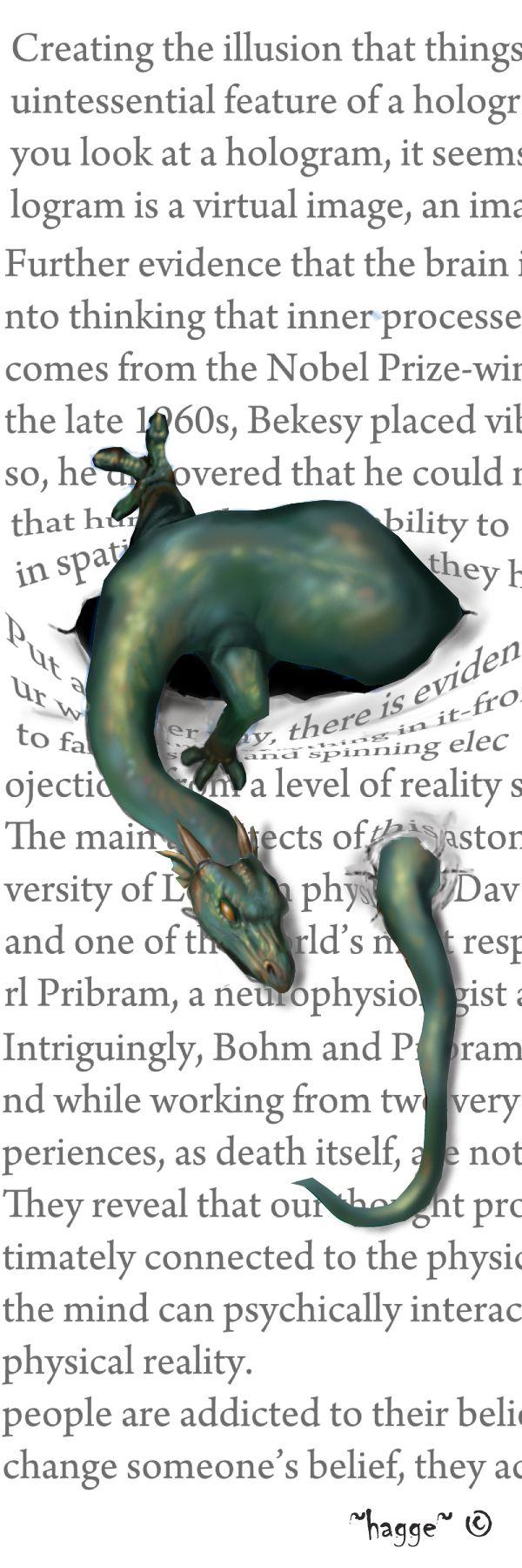 dragon bookmarker by *Hagge on deviantART