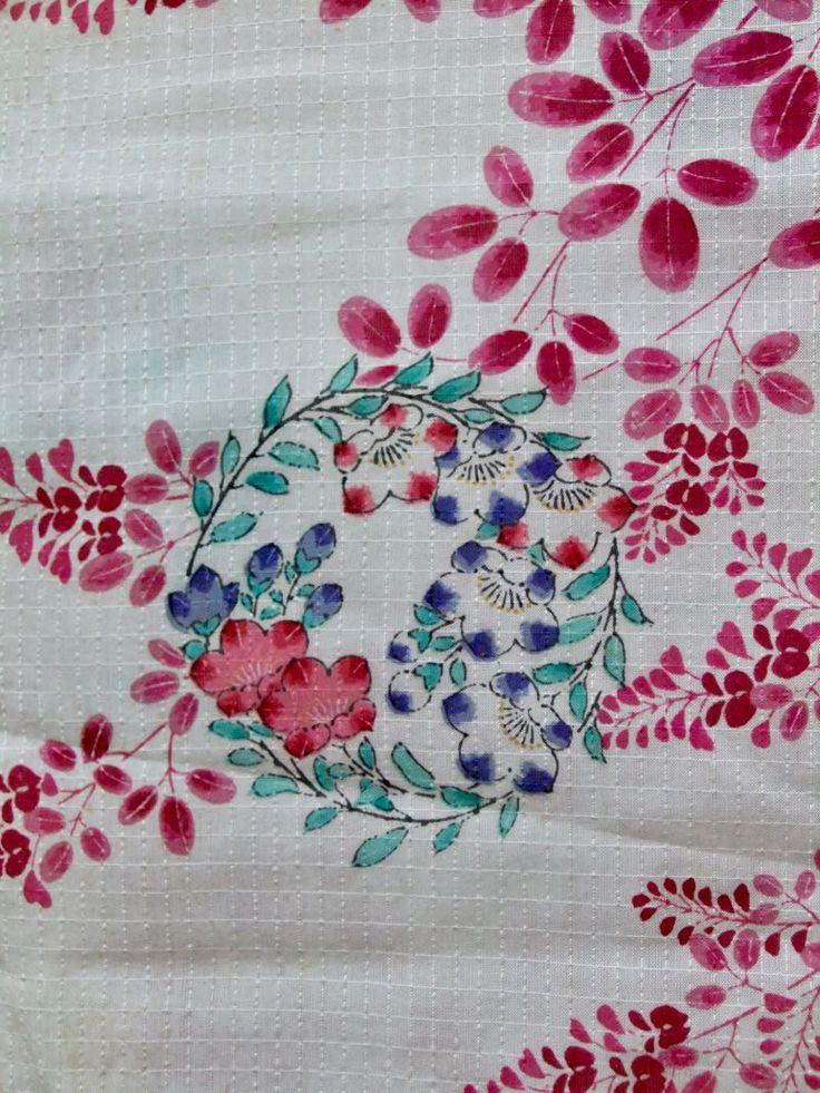 http://www.fujikimono.co.uk/fabric-japanese/softly-softly.html ☆ New Arrival ☆ 'Softly Softly' #women's #offwhite #silk & #linen blend #summer #kimono #classic #floral #pattern from #FujiKimono   #textile #Japanese #costume #cosplay #kawaii #HyperJapan #VintageFair