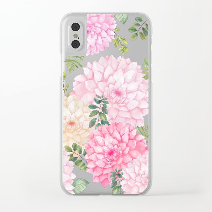 JARDIN DU SOLEIL / SUN GARDEN Clear iPhone Case Beautiful design by S. Boar on society6 #jardin #soleil #garden #vintage #fern #pillow #decor #floral #flowers #flower #nature #natural #summer #watercolor #botanical #bouquet #spring #trending