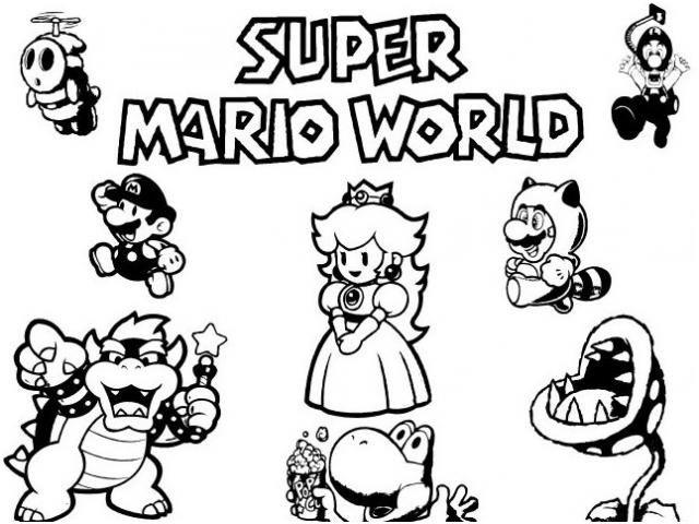 8 Immaculee Frais Coloriage Mario Bross Photos Di 2020