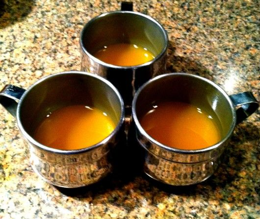 Ginger-turmeric tea with lemon and honey apparently has too many cleansing and health benefits to list here.