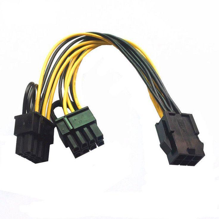 GPU <b>6pin PCI</b> Express to 2 x PCIe 8pin(6+2) Mining Cable for ...