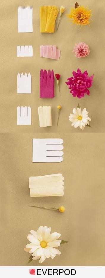 Lindas flores hechas a mano