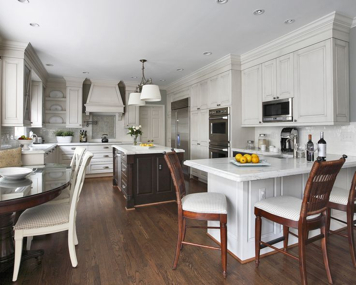Image result for kitchen peninsula with seating on both sides