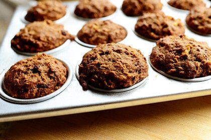 My mom made these blessedly beautiful muffins when she was visiting over the weekend, and I just inhaled them. They're textural and flavorful and—bonus!—oil free and butter free&#…