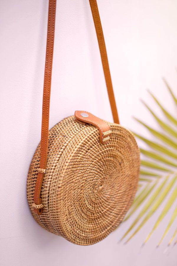 ausgewähltes Material am besten geliebt schön in der Farbe Ata Bali Bag Tasche rund 20cm | Mode in 2019 | Süße taschen ...