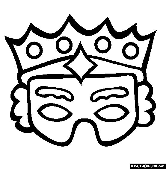 Free Purim Coloring Pages Color In This Picture Of A Mask And Others With Our Library Online