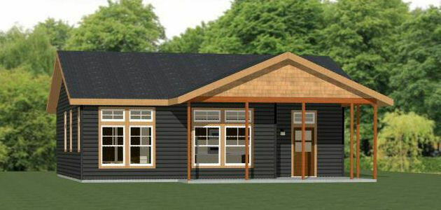 Details About 36x32 House 2 Bedroom 2 Bath 1 082 Sq Ft Pdf Floor Plan Model 1b Carriage House Plans Small House Plans Small House Floor Plans