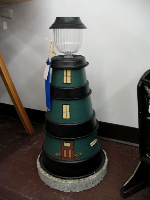 44 best diy lighthouse images on pinterest lighthouse craft lighthouse solar light i made this using different size flower pots a stepping stone and solar light i sell my items through oleandlenas located in sciox Image collections
