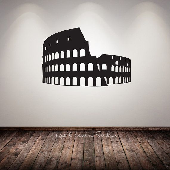Rome decal gladiator decal colosseum wall decal arena for Wall stickers roma