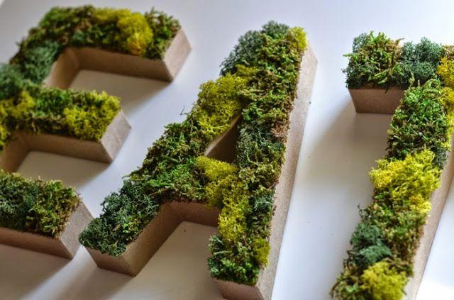 pflanzen buchstaben selber machen