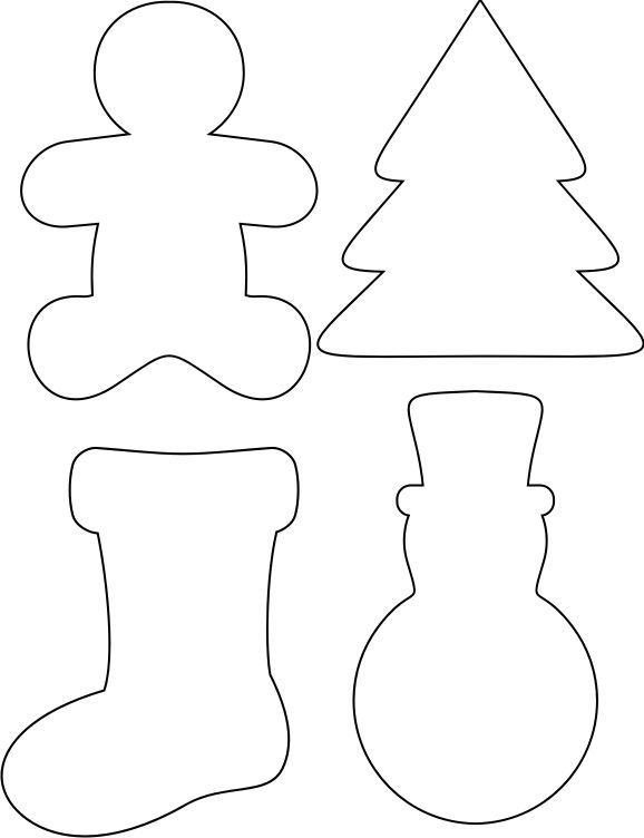 Felt Crafts Templates Christmas Decorations Ornaments