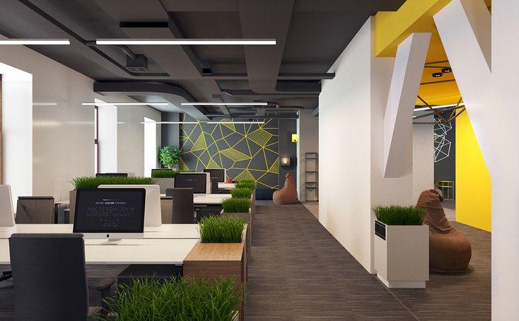 Дизайн интерьера офиса для IT-компании #office #it_company #design #3d #дизайн_офиса