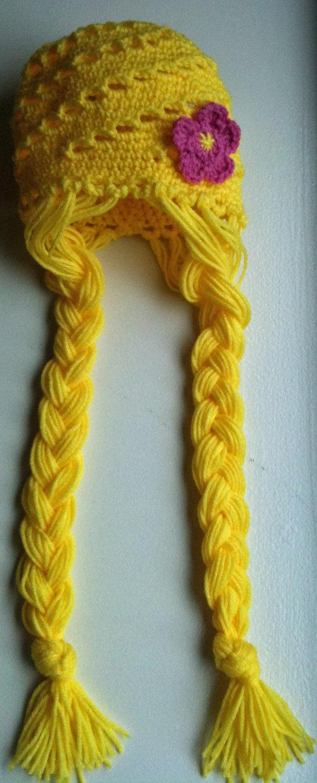 Rapunzel crochet hat!