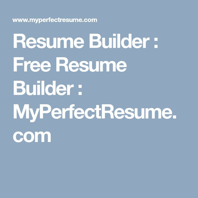 Best 25+ Resume builder ideas on Pinterest Resume builder - free perfect resume