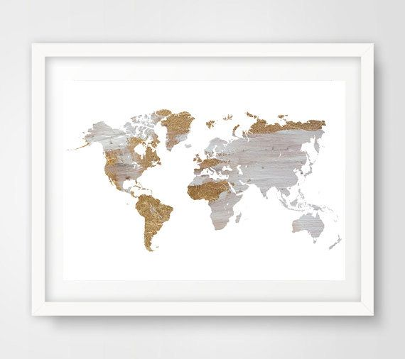 The 25 best world map printable ideas on pinterest geography grey world map wall art world map wall print gray world map world map poster painted map travel map decor gumiabroncs Gallery