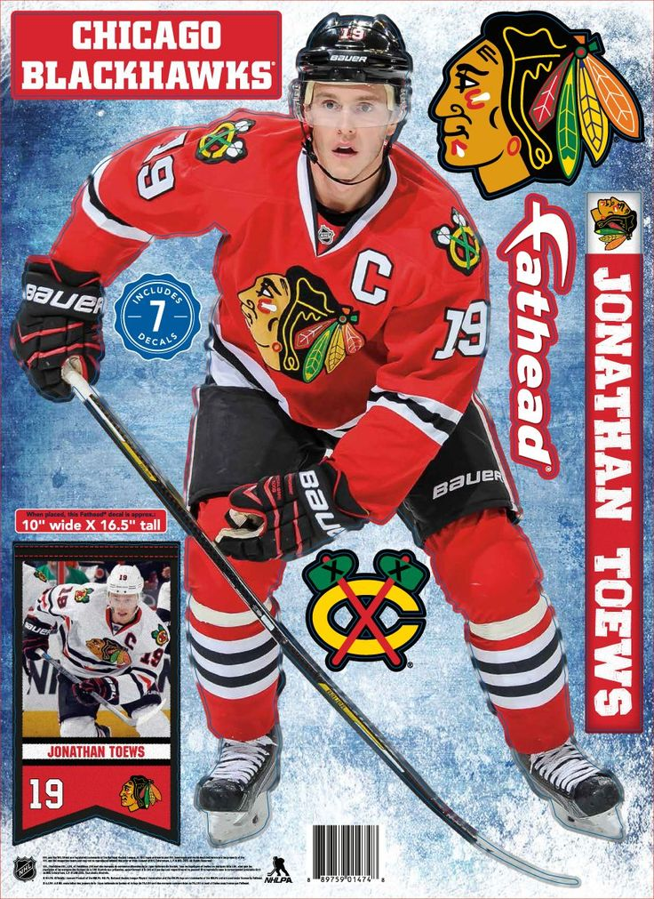 Fathead Chicago Blackhawks Jonathan Toews Player Wall