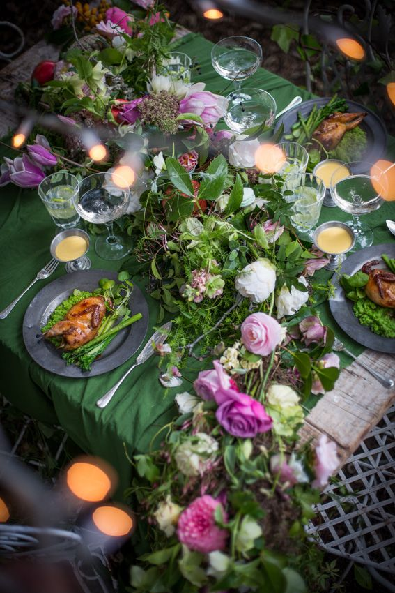 #Forest #feast with #fairy #lights #flowers #roses #garden #foodphotography #foodstyling #styling #photography