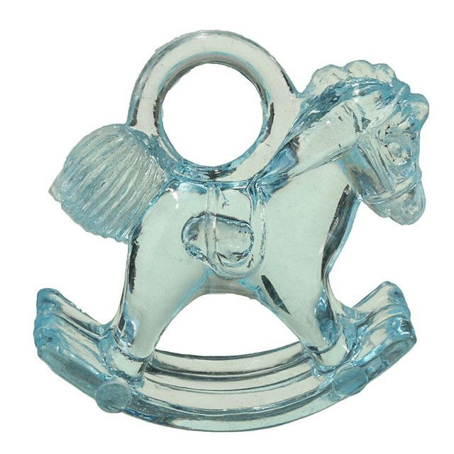 12pcs/Set Baby Shower Favors Gifts Plastic Mini Horse Christening Party Ornament Decoration Happy Brithday Children's Day