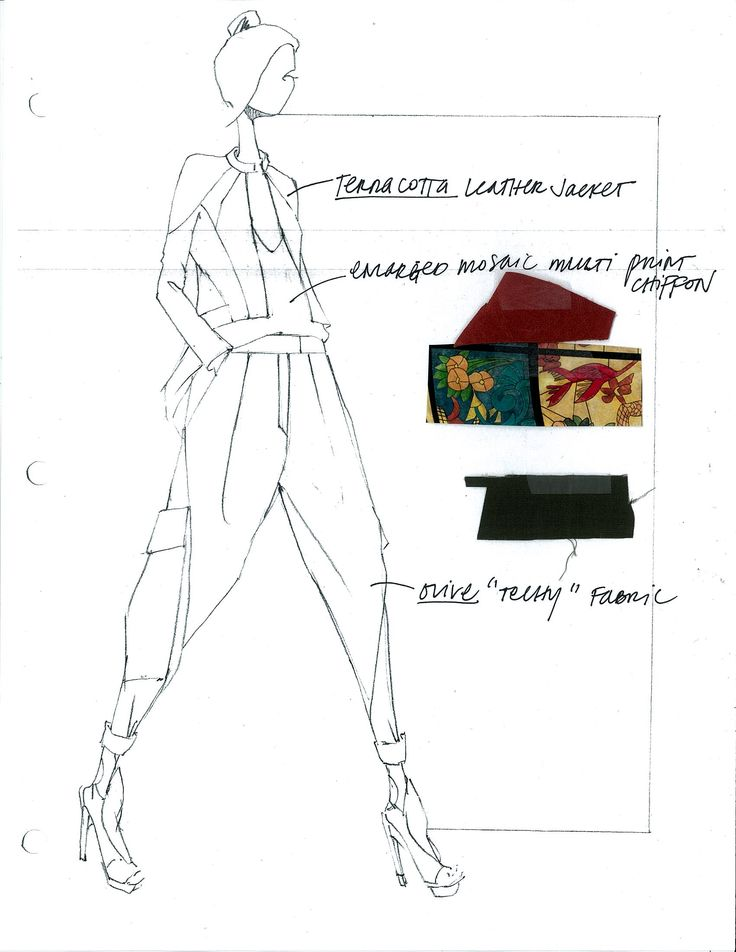 Spring 13 Concept Sketch and Swatches