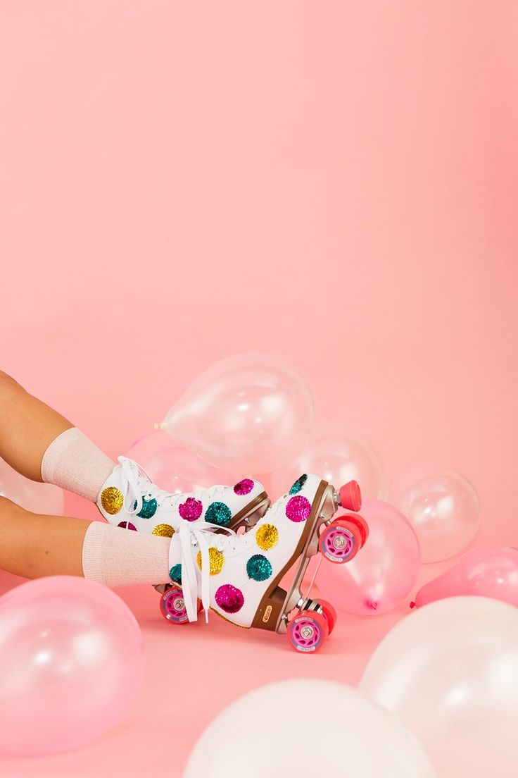 Roll back to the '80s with a pair of DIY sequin roller skates.