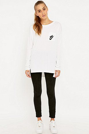Nike Signal Long Sleeve White T-shirt