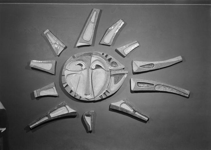 Querubim Lapa | Bruxelas / Brussels | Exposição Internacional / World's Fair | 1958 [foto / photo: © Horácio Novais] #Azulejo #AzulejoDoMês #AzulejoOfTheMonth #QuerubimLapa