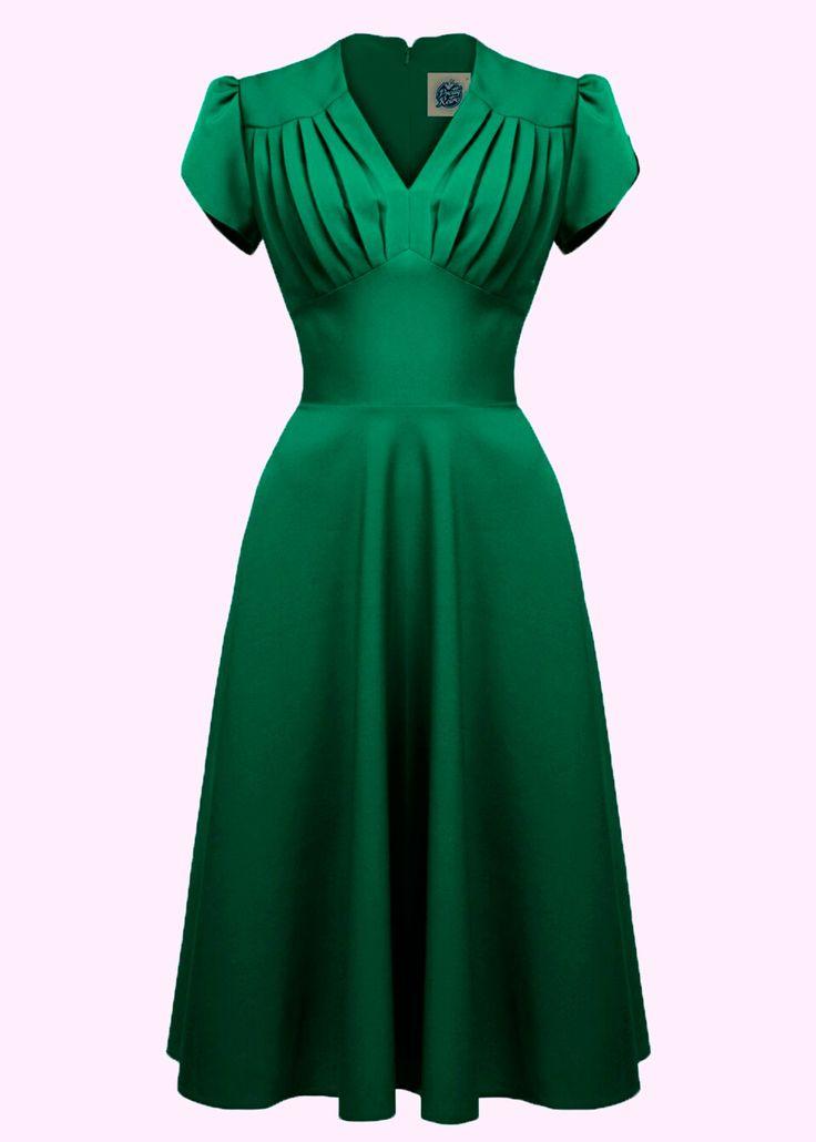 Pretty Swing Dress in green