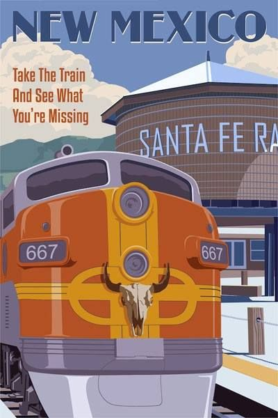 The New Mexico Rail Runner by Steve Thomas