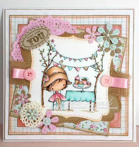 Handmade card made using Summer Fayre digi from All Dressed Up Stamps