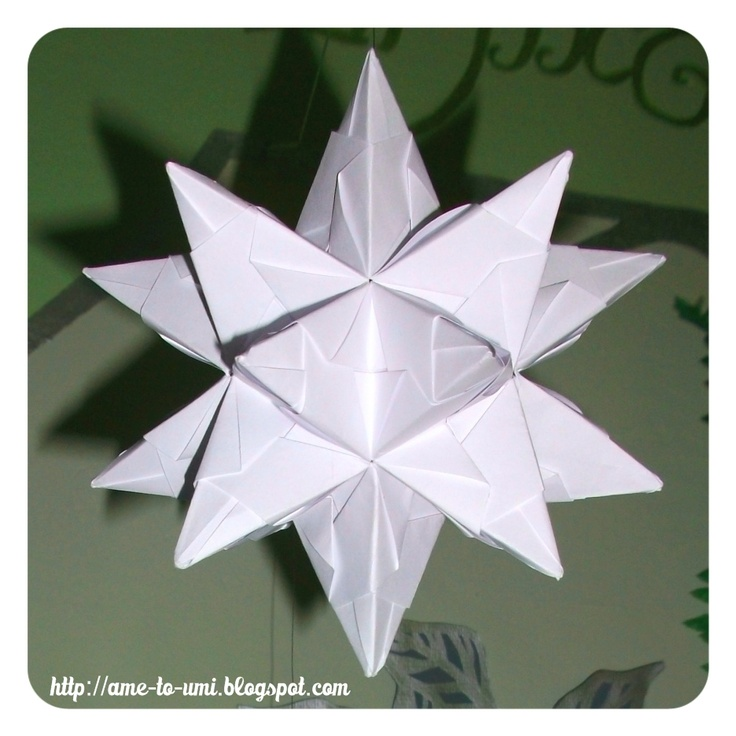 Bascetta Star White Made From Paolo Units Origami Designed By