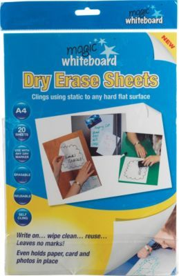 Staples; Magic Whiteboard™ Magic Whiteboard Sheets, White