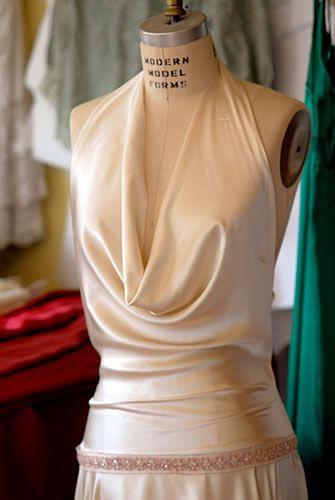 Top 25 best cowl wedding dress ideas on pinterest for Satin cowl neck wedding dress