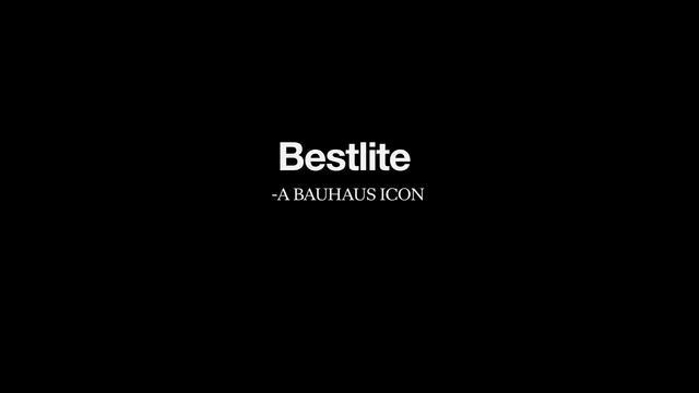 Bestlite by Gubi. A Bauhaus Icon