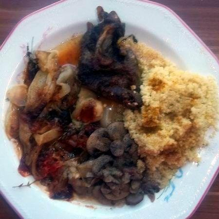 Sült tarja hagymás gombával és currys kuszkusszal Recept képpel - Mindmegette.hu - Receptek