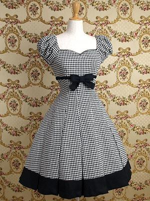 Cordelia Puff Sleeved OP by Mary Madgalene    This is a really adorable OP in a really surprising houndstooth fabric.