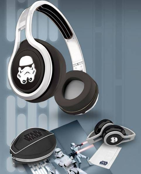 SMS Audio - StarWars Wired On Ear Headphones - Storm Troopers - Echoing the Stormtroopers' high-gloss white apparel, each pair sports the iconic Stormtrooper helmet on its ear-piece emblem. The black, plush l...